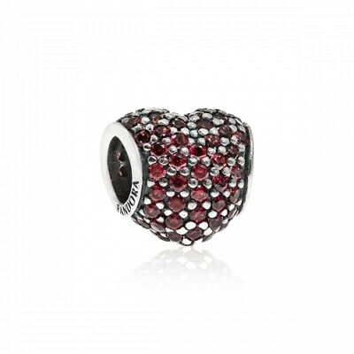 AU20.51 • Buy *Pandora Sterling Silver Red Pave Heart Charm #791052CZR