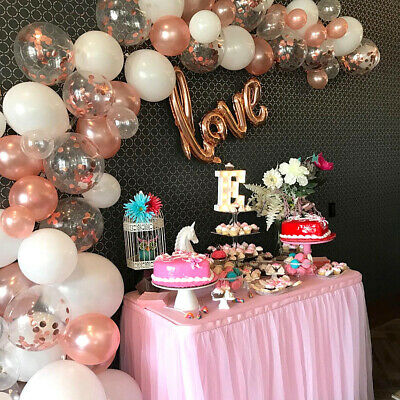 £9.99 • Buy Christmas Rose Gold Balloon Garland Arch Kit Birthday Wedding Party Home Deco