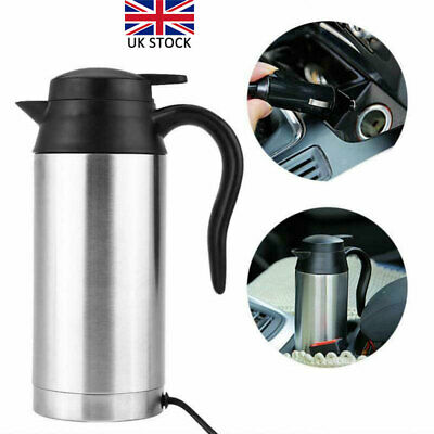 £20.86 • Buy Stainless Steel Electric Kettle Pot Car Portable Travel Camping Water Heater UK
