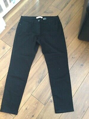 £4.99 • Buy Ladies Next Black Relaxed Skinny Mid Rise Jeans Size 14