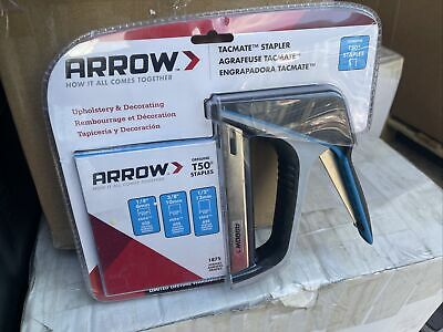 £21 • Buy Arrow T50 AT50X TacMate Staple Gun With FREE Staples (6mm, 10mm, 12mm) NEW