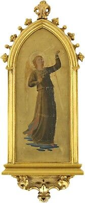 £119 • Buy An Angel Old Master Oil Painting Manner Of Fra Angelico (Italian, C.1395-1455)