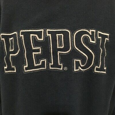 AU20.69 • Buy Vintage Pepsi Sweatshirt Size L Womens Spell Out Embroidered Blue Inside Out