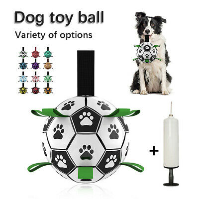 £8.99 • Buy Leather Football For Dog Toys Puppy Large Dogs Outdoor Training Kids Pets Games