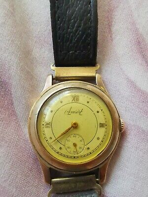 £49 • Buy Accurist 1940s Mens Wrist Watch Bwc London Made Staneess Steel Back Gold Plated