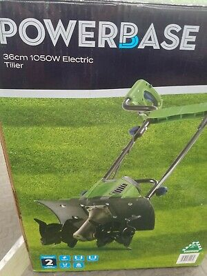 £21 • Buy Tiller Electric Cultivator 1050 W Electric Steerage Hoe Garden Brand New Boxed