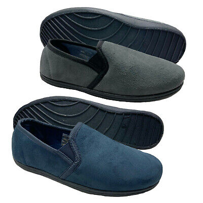 £10.77 • Buy Mens Wide Fit Fitting Twin Gusset Diabetic Orthopaedic House Hard Sole Slippers