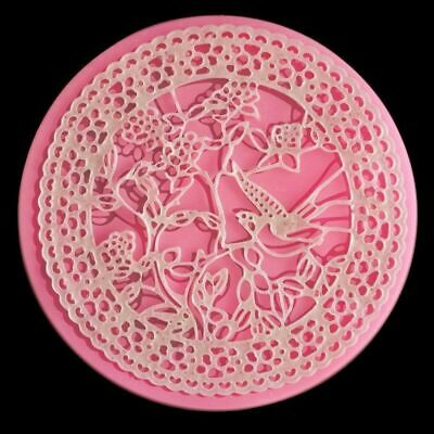 £14.73 • Buy Silicone Mold Dove Lace Flower DIY Decorative Ornaments Fondant 3d Wall Panel