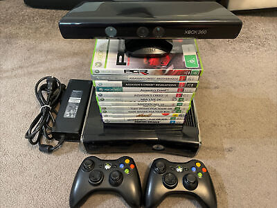 AU199 • Buy Xbox 360 S Console Bundle (250GB) 2xGenuine Controller And 12x Games