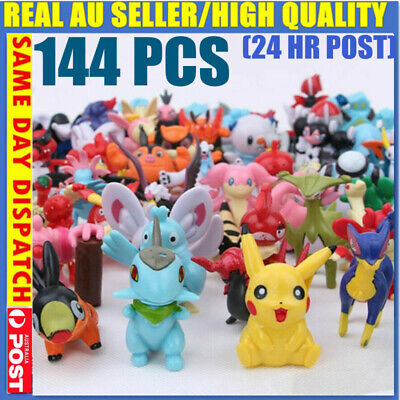 AU28.45 • Buy 144 X Kids Gift Pokemon Pikachu Monster Collectible Action Figures Doll Set Toys