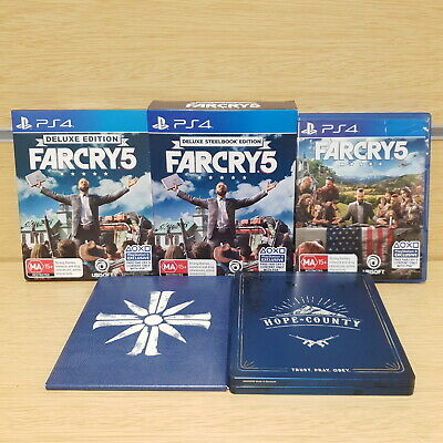 AU59.95 • Buy Farcry 5 Deluxe Steelbook Edition Playstation 4 PS4 Video Game