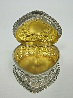 £20 • Buy 925 Sterling Silver Heart Shaped Trinket Box Collectable - Halcyon Days?
