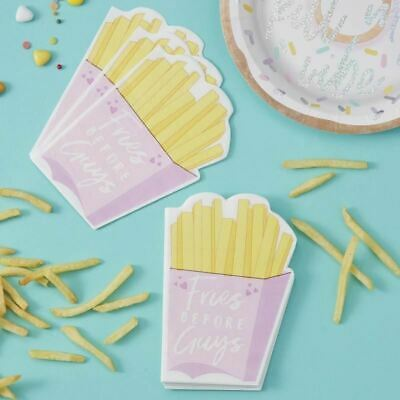 £4.95 • Buy 16 Pink French Fries Napkins Birthday Party Napkins Fries Before Guys Napkins
