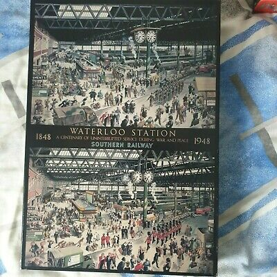 £5 • Buy Excellent 1000 Piece  Waterloo Station 1848-1948 During War & Peace  Jigsaw
