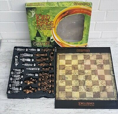 £29.99 • Buy The Lord Of The Rings Pewter And Bronze Effect Chess Set