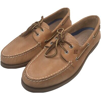 £35.09 • Buy Sperry Top Sider Mens A/O Boat Shoes Brown Leather Slip On Moc Toe 11 M New