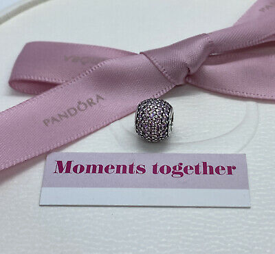 AU39 • Buy Pandora Pave Pink Sterling Silver Bead Charm 791051  Authentic Ale 925