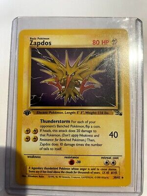 $4.99 • Buy Pokemon   ZAPDOS Card  1st EDITION FOSSIL