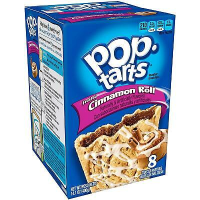 £7.99 • Buy Kellogs Frosted Cinammon Roll American Pop Tarts Toaster Pastries 8 Pack 384g