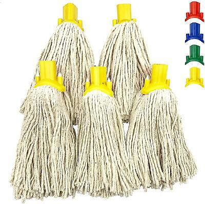 £7.99 • Buy 5x Cotton Mop Heads Replacement Floor Multi Fit Heavy Duty Head Cleaning Kitchen