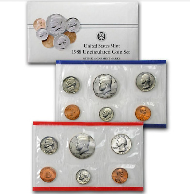 AU29.99 • Buy 1988 United States Mint Uncirculated Coin Set.