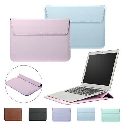 AU22.28 • Buy Leather Laptop Sleeve Bag Pouch Cover Case For MacBook Air 11 13 Pro 15 Retina