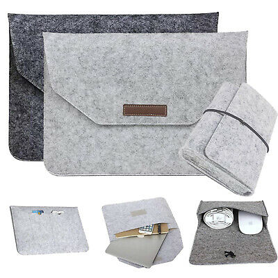 AU16.61 • Buy Wool Laptop Sleeve Case Bag For Macbook Air Pro Retina 11 12 13 15 Inch W/ Cable