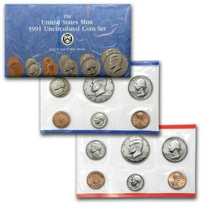 AU27.99 • Buy 1991 United States Mint Uncirculated Coin Set.