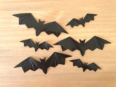 £3 • Buy 6 X HALLOWEEN BATS - Two Sizes To Choose From - Very Dark Bronze