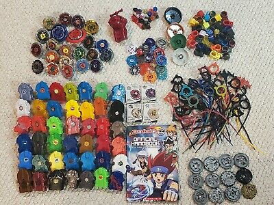 £203.02 • Buy HUGE Beyblade Collection Launchers, Ripcords, Accessories, Metal & Plastic Parts