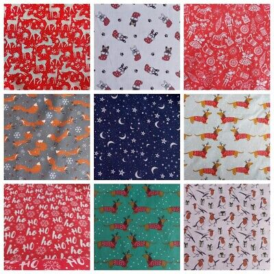 £2.90 • Buy Christmas Polycotton Fabric Material  Sold By 1/2 Metre