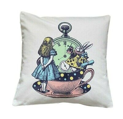 £6.99 • Buy The Clock - 40cm Cushion Cover Alice In Wonderland Baby/child/Gift