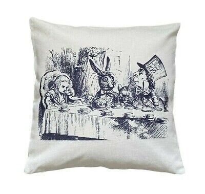 £6.99 • Buy Mad Hatter's Teaparty - 40cm Cushion Cover Alice In Wonderland Baby/child/Gift
