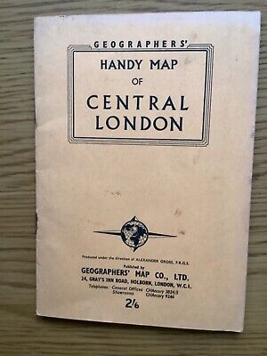 £4.99 • Buy Geographers Handy Map Of Central London