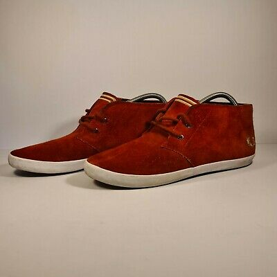 £13.99 • Buy Fred Perry Byron Mid Suede Red Boots Sneakers Shoes UK 7