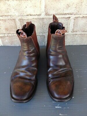 AU135 • Buy RM Williams Brown Leather Aussie Boots Size 8 - Pre-loved