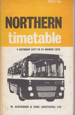 £6 • Buy Northern Scottish Bus Timetable Book Oct 1977 With Route Map