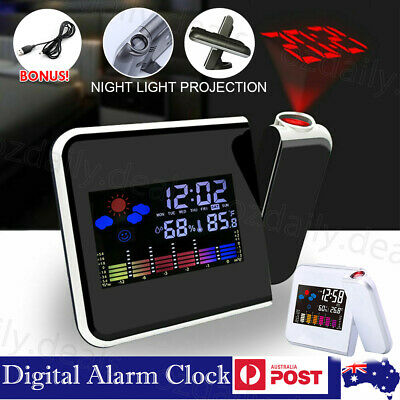 AU16.95 • Buy Smart Alarm Clock Digital LED Projector Temperature Time Projection LCD Display