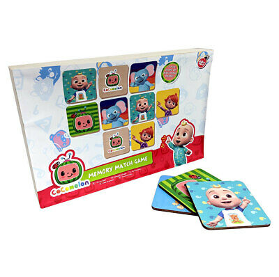 AU7 • Buy 28pc Cocomelon Wooden Memory Match Game 20cm Fun/Learning Kids/Family Toy 18m+