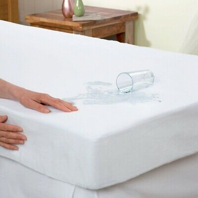 AU9.95 • Buy Essentially Home Living Anti Allergy Waterproof Double Bed Mattress Protector WH