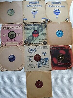 £12 • Buy Selection 10 X 78 Rpm GRAMOPHONE RECORDS 10  Inc Bing Crosby Andrews Sisters