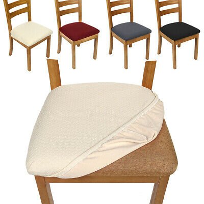 AU27.64 • Buy 4pcs Dining Chair Covers Kitchen Seat Cover Home Stretch Removable Slipcover
