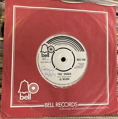 £5 • Buy Al Wilson: The Snake .1975 Bell+cover.1968 Recording.northern Soul Classic!