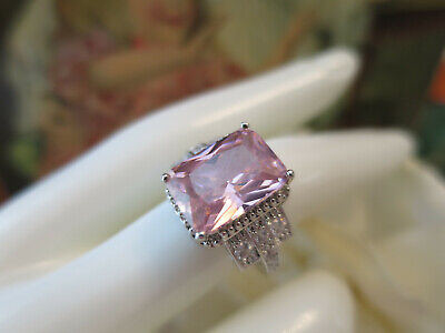 AU49.95 • Buy Vintage Jewellery Gold Ring Pink & White Sapphires Art Deco Design Size 9 (75)