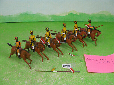 £18 • Buy Vintage Britains Lead Soldiers Recast Mounted Indians Toy Models 1828