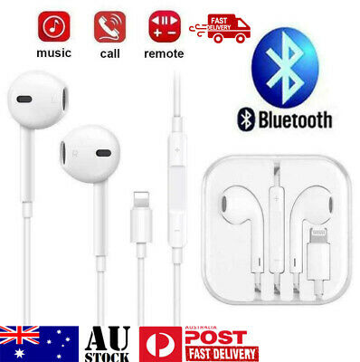 AU9.40 • Buy Wired Bluetooth 8pin Earphones Headphones Mic For Apple IPhone11 8 7 X Xs XR 12