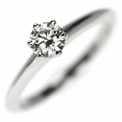 AU1579.32 • Buy Tiffany Pt950 Diamond Ring 0.38ct H VVS2 Solitaire - Auth SELBY_JAPAN