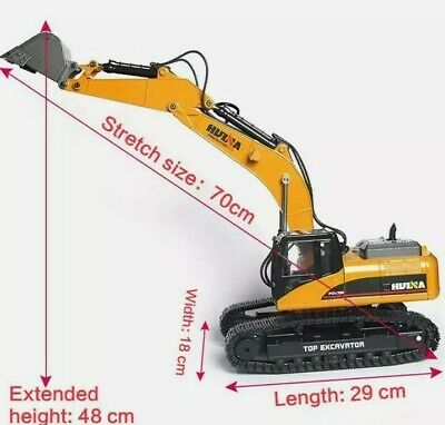 £49 • Buy HUINA 1550 2.4G 15 Channel Electronic Excavator Remote Control RC Truck Digger