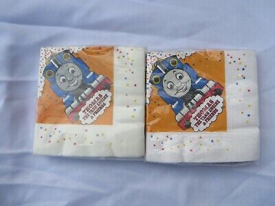 £10.85 • Buy 32 Piece Thomas The Tank Engine & Friends Party Napkins Vintage 1990s Party NWT