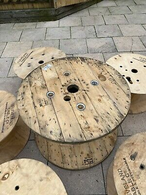 £2.40 • Buy Wooden Cable Reel Up Cycle Upcycle Furniture Table Assorted Sizes Used Reel